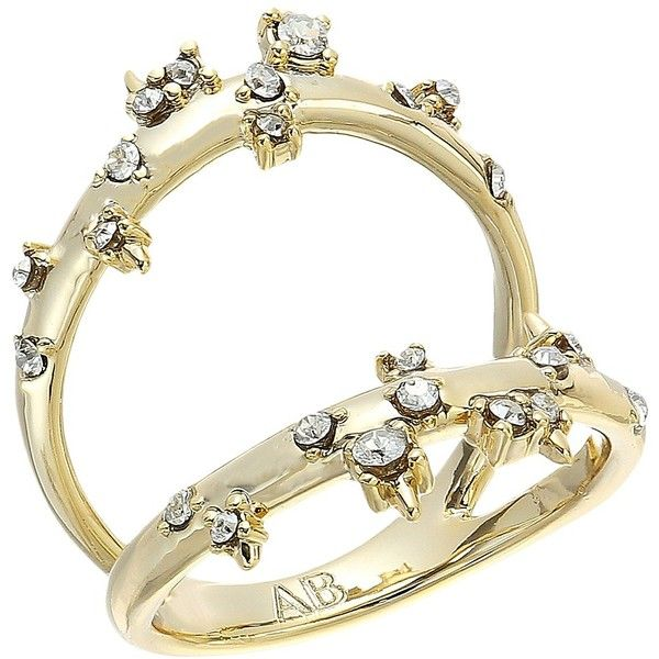 Alexis Bittar Double Band Crystal Ring XV4cdRpiT