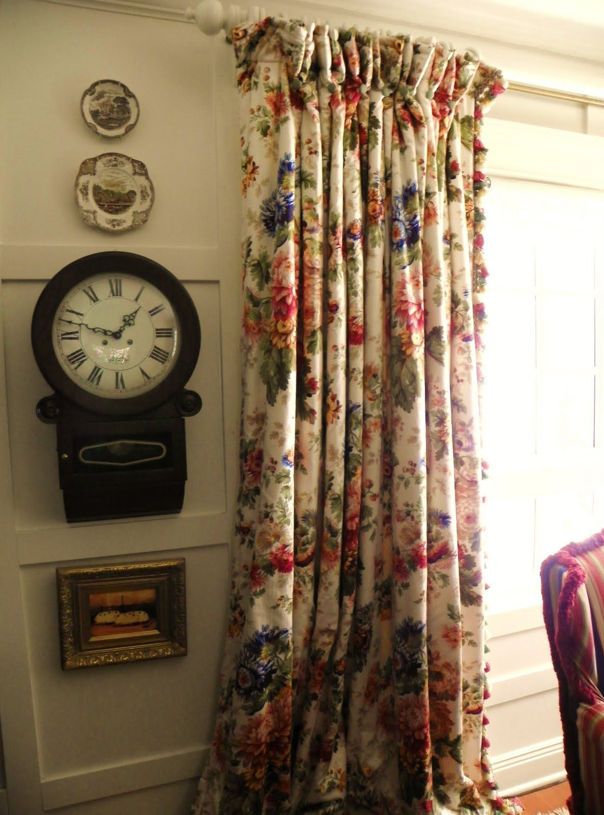 i made the curtains double wide and lined them with fleece for extra rh pinterest com  english country cottage curtains