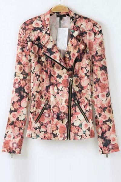 Floral Rose Moto Jacket