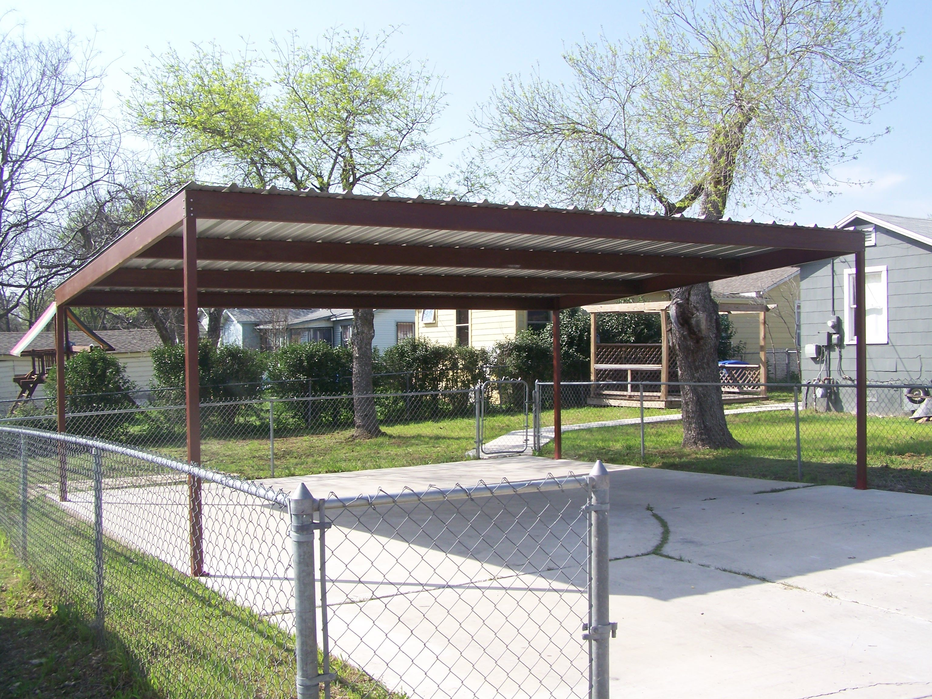 Metal Two Car Carport North Central San Antonio This Metal
