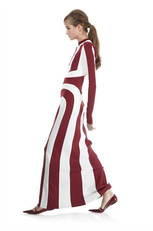Pieced Roundneck Dress with Open Back - Marc Jacobs
