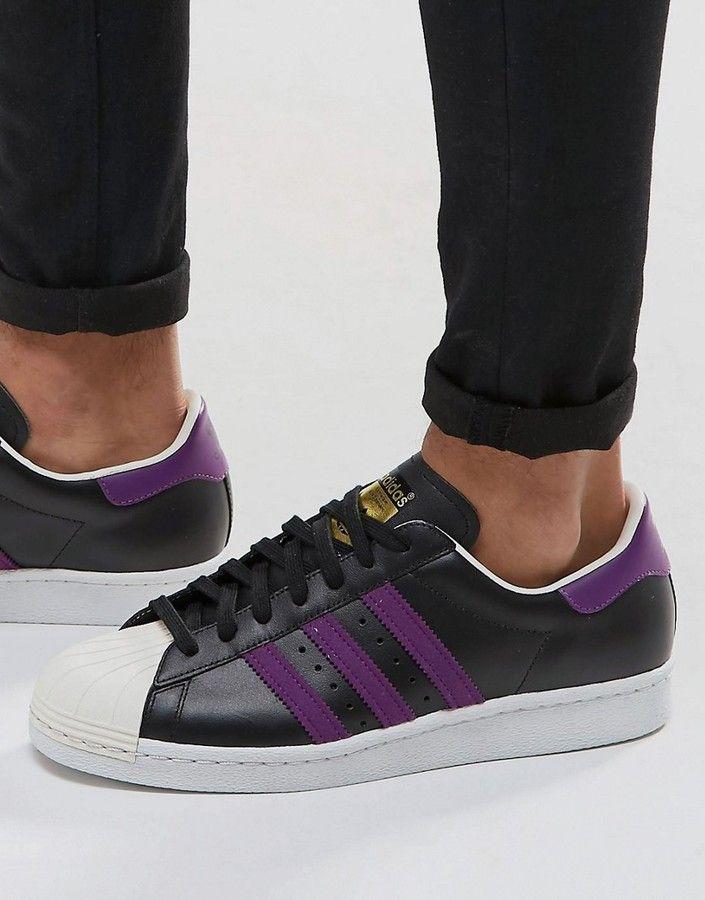 Asos - adidas Originals Superstar 80's Sneakers In Black BB3718 ...