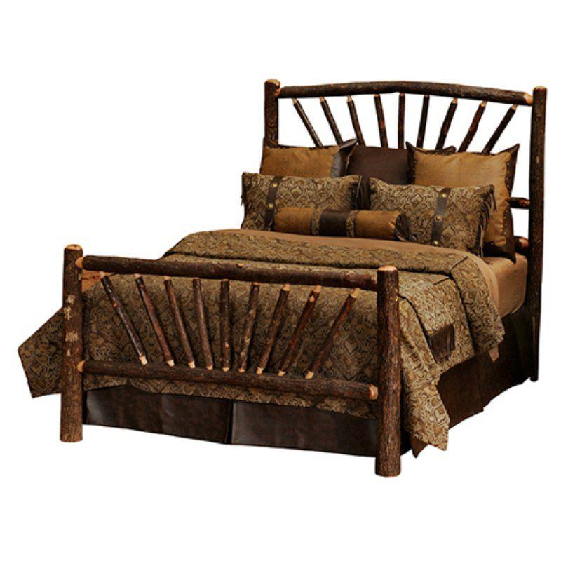 Fireside Lodge Hickory Sunburst Panel Bed