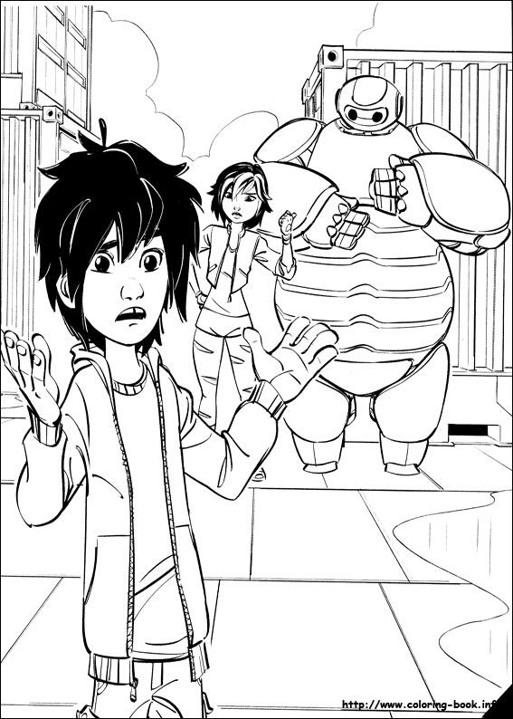 Gogo Tomago Run Png Clipart - Big Hero 6 Coloring Page - Free ... | 794x567