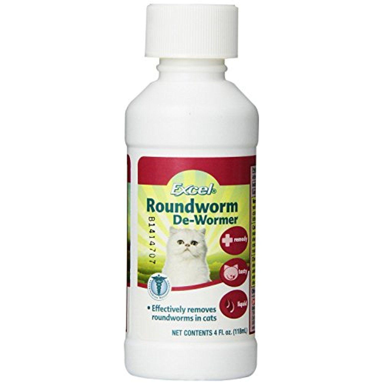 Feline Excel Roundworm Liquid De Wormer Remedy For Cats 4 Ounce