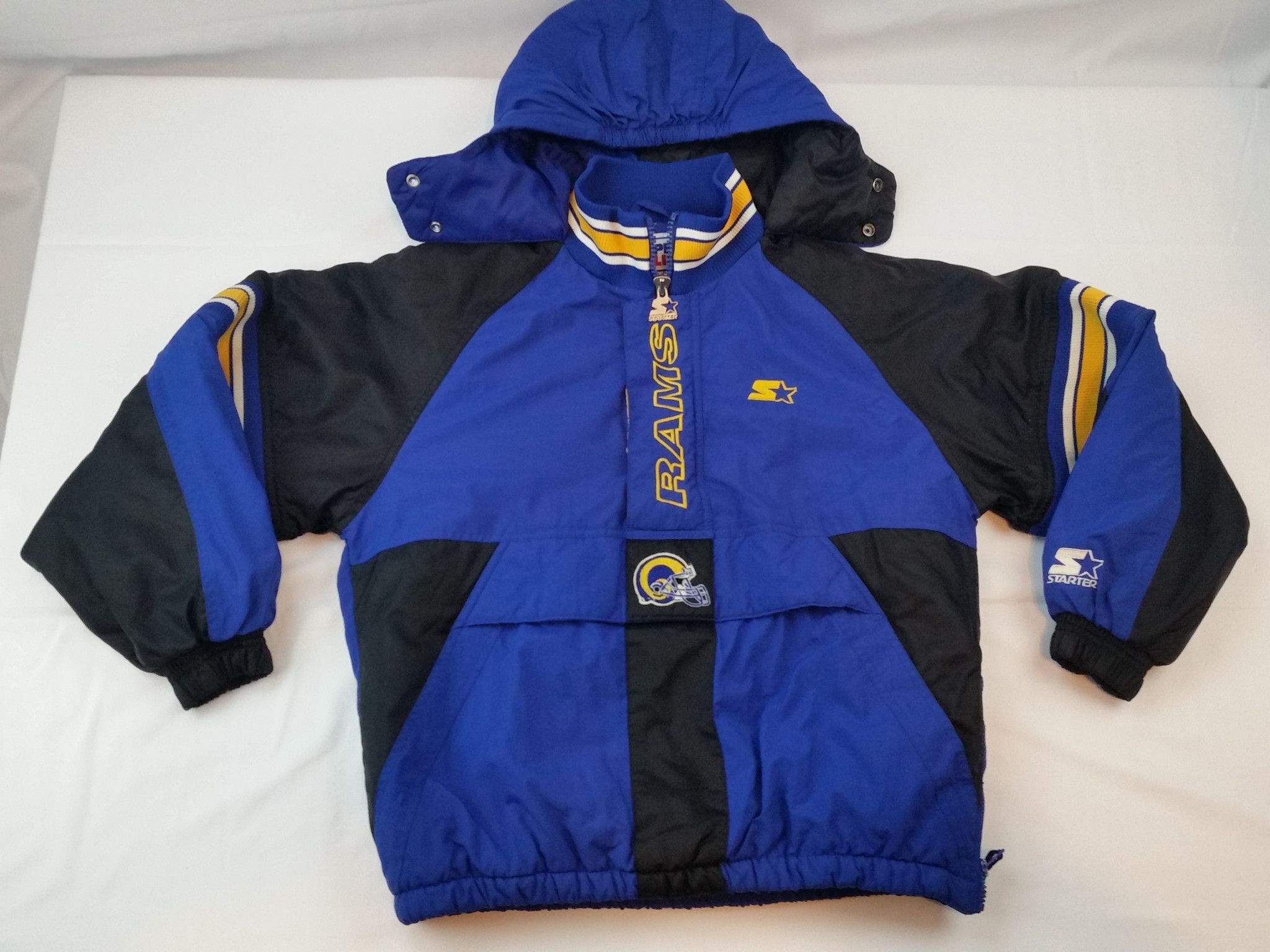 the best attitude 72dd9 843ed Los Angeles Rams Starter Jacket Vintage NFL Pro Line Coat St ...