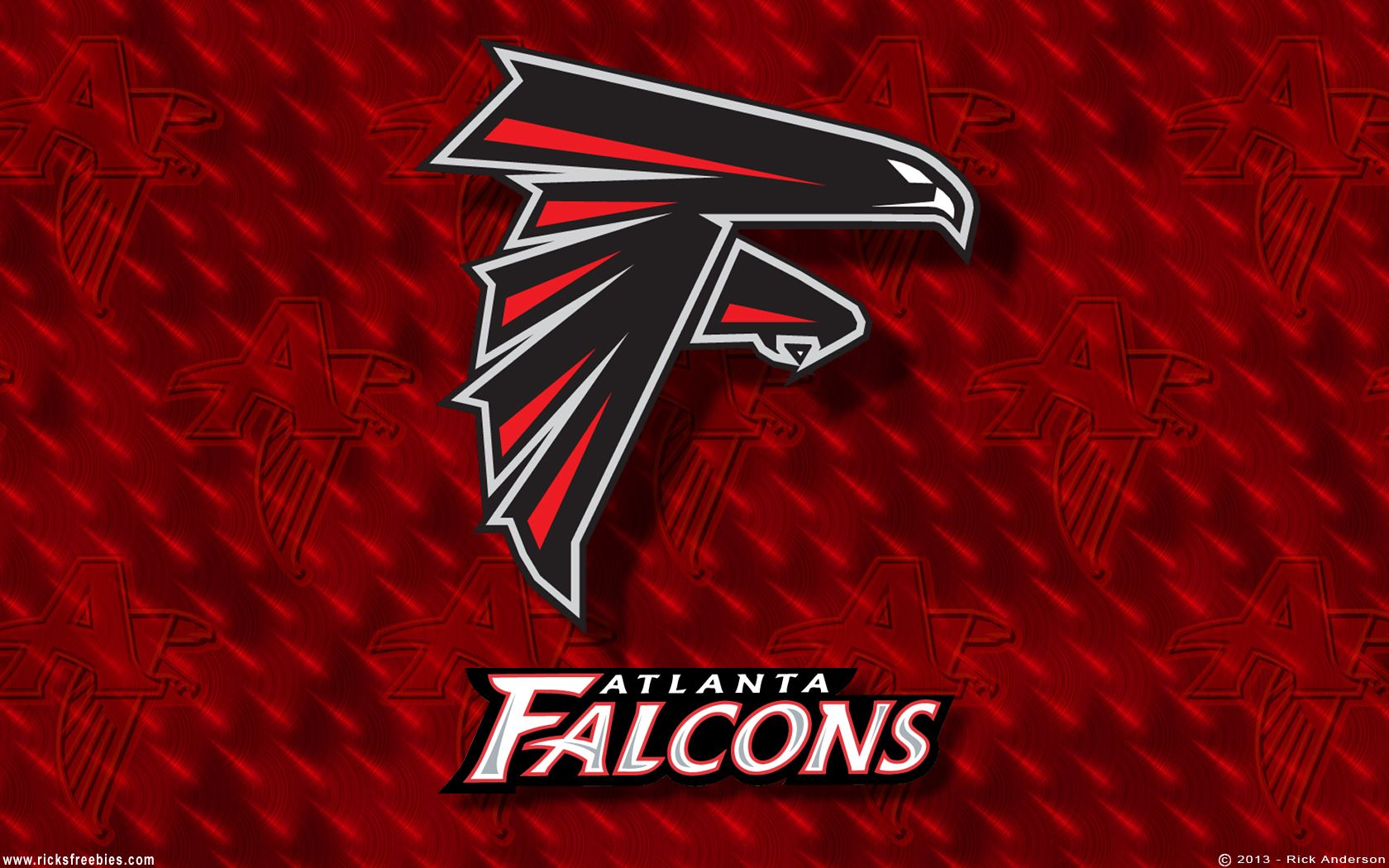 Rick S Freebies Atlanta Falcons Wallpaper 1680x1050 Atlanta Falcons Wallpaper Atlanta Falcons Logo Atlanta Falcons Football