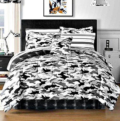 Black White Bedding Accent Color Complete Bedding Set