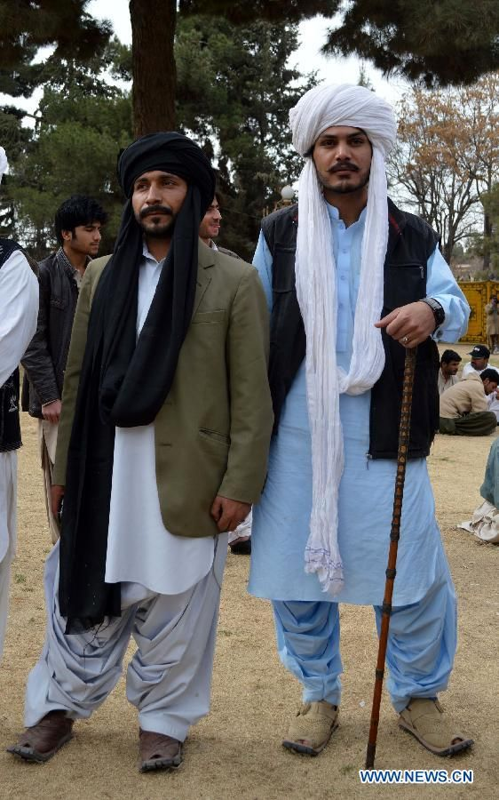 Baloch Culture Day 2014 Baloch Men in traditio...