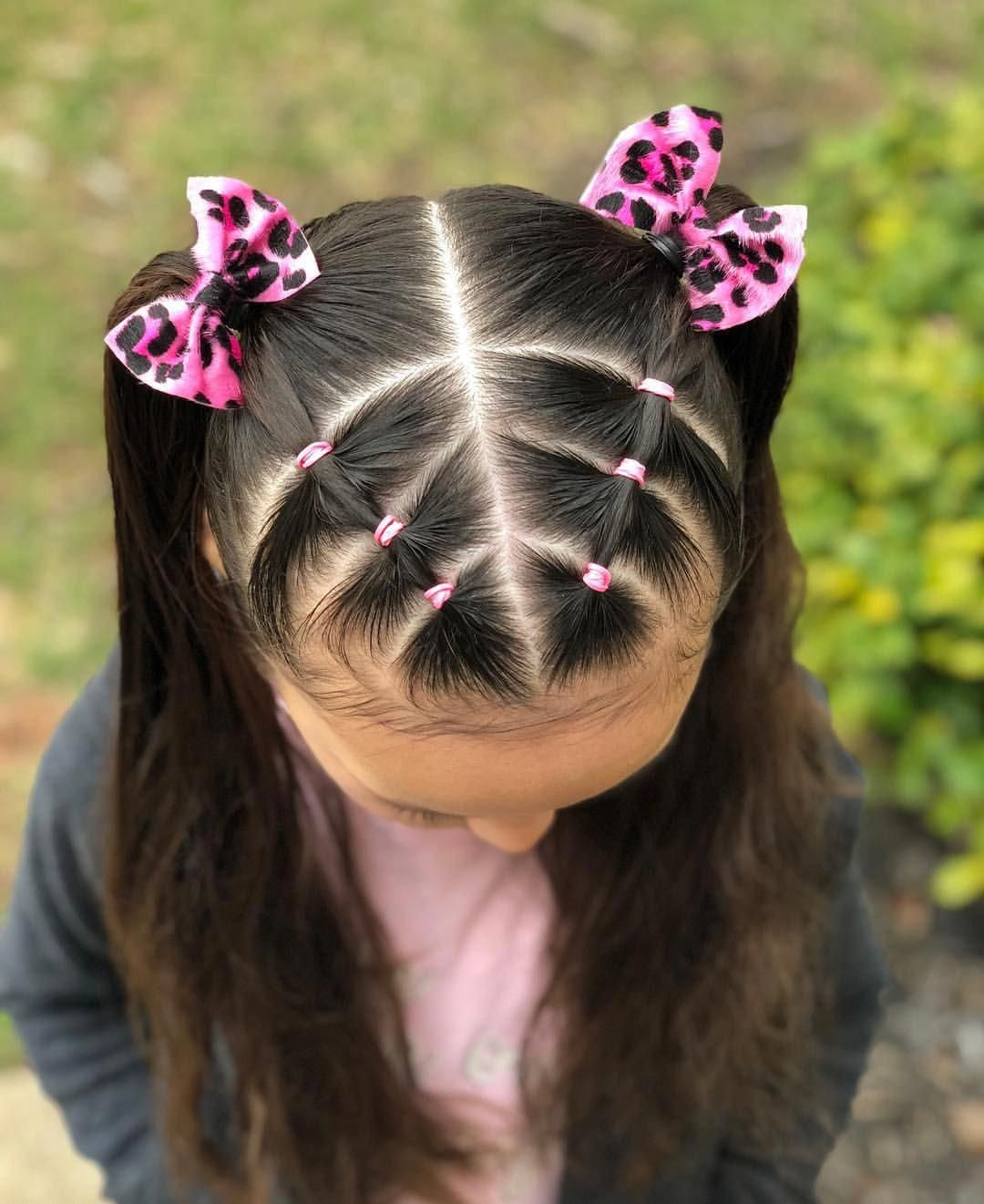 Dutch braid with elastic sections on the side into a messy bun 🎀🌸💜 • Super cute bow is from @lilieslondon 🥰 use code: CADENCE
