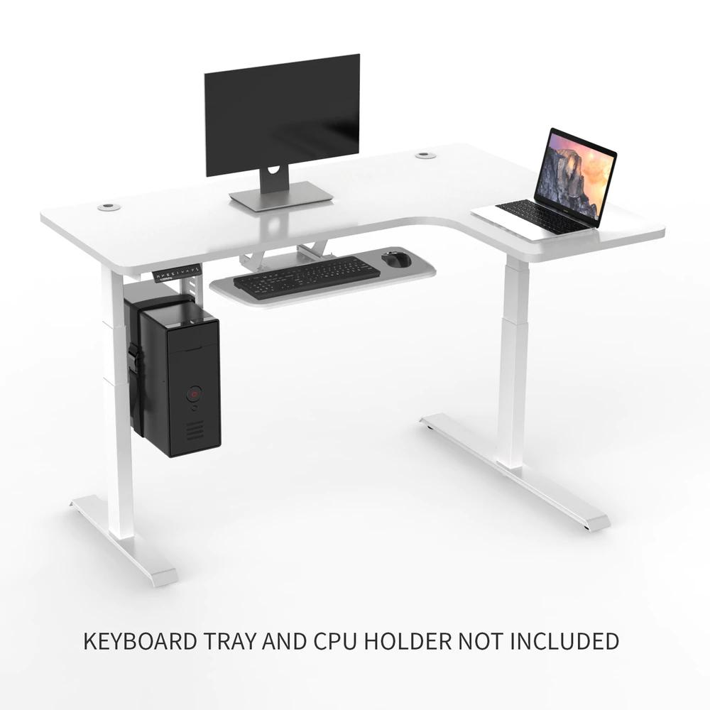 Eureka Ergonomic L Shaped Standing Desk White L Shaped Computer Desk Right Electric Standing Desk Standing Desk L Shaped Desk