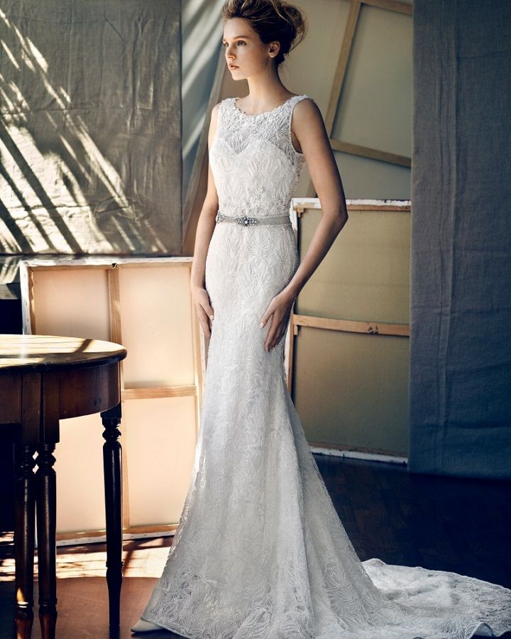 Lusan Mandongus 2017 Collection alluring mermaid wedding dress with dazzling bead