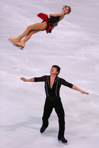 Cheng Peng and Hao Zhang of China  Pairs Short Program Trophee Eric Bompard, Pairs costume inspiration for Sk8 Gr8 Designs