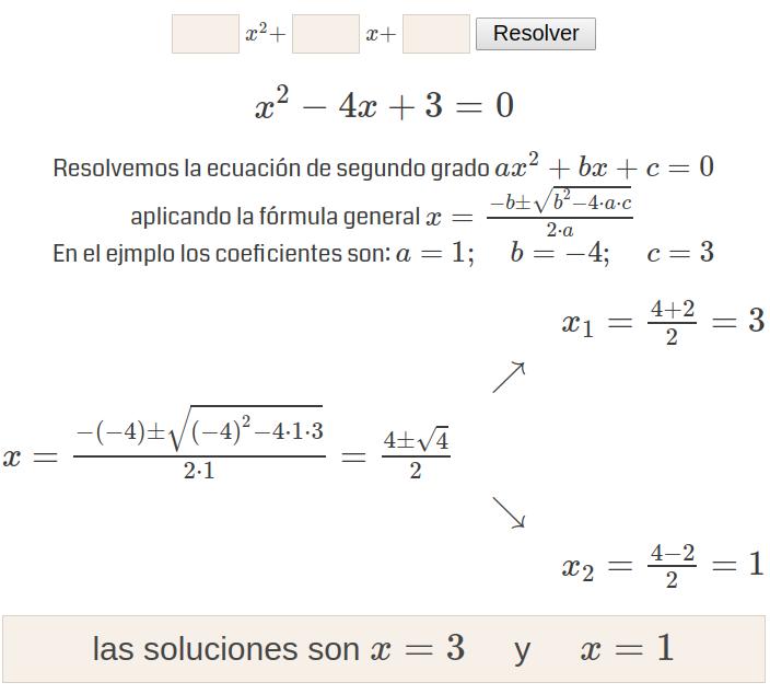 Ecuaciones De Segundo Grado Ecuaciones Ecuaciones Cuadraticas Segundo Grado