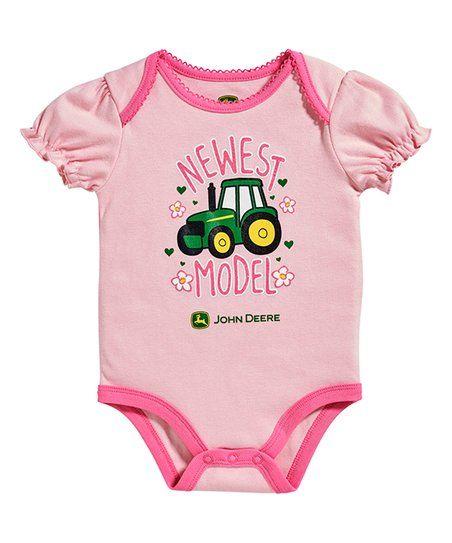 482eae5f6 John Deere Light Pink Newest Model Bodysuit - Infant | zulily | My ...