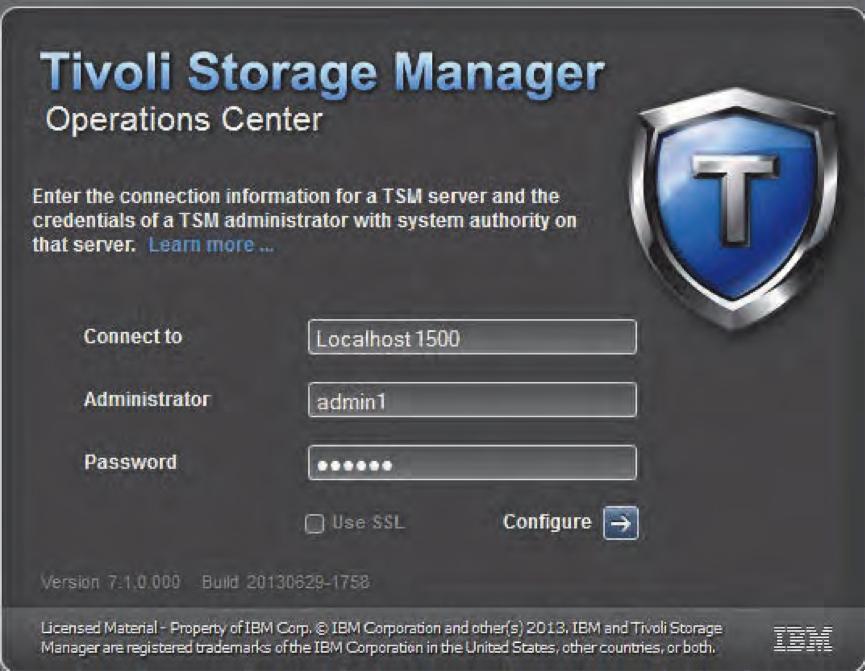 Tivoli Storage Manager Operations Center V7 1 install | TSM