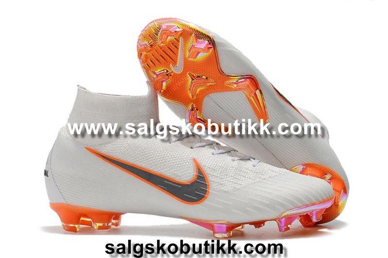 super popular fa95e 03556 Nike Barn Mercurial Superfly VI Elite FG Fotballsko Hvit Metallisk Grå  Oransje visit us https