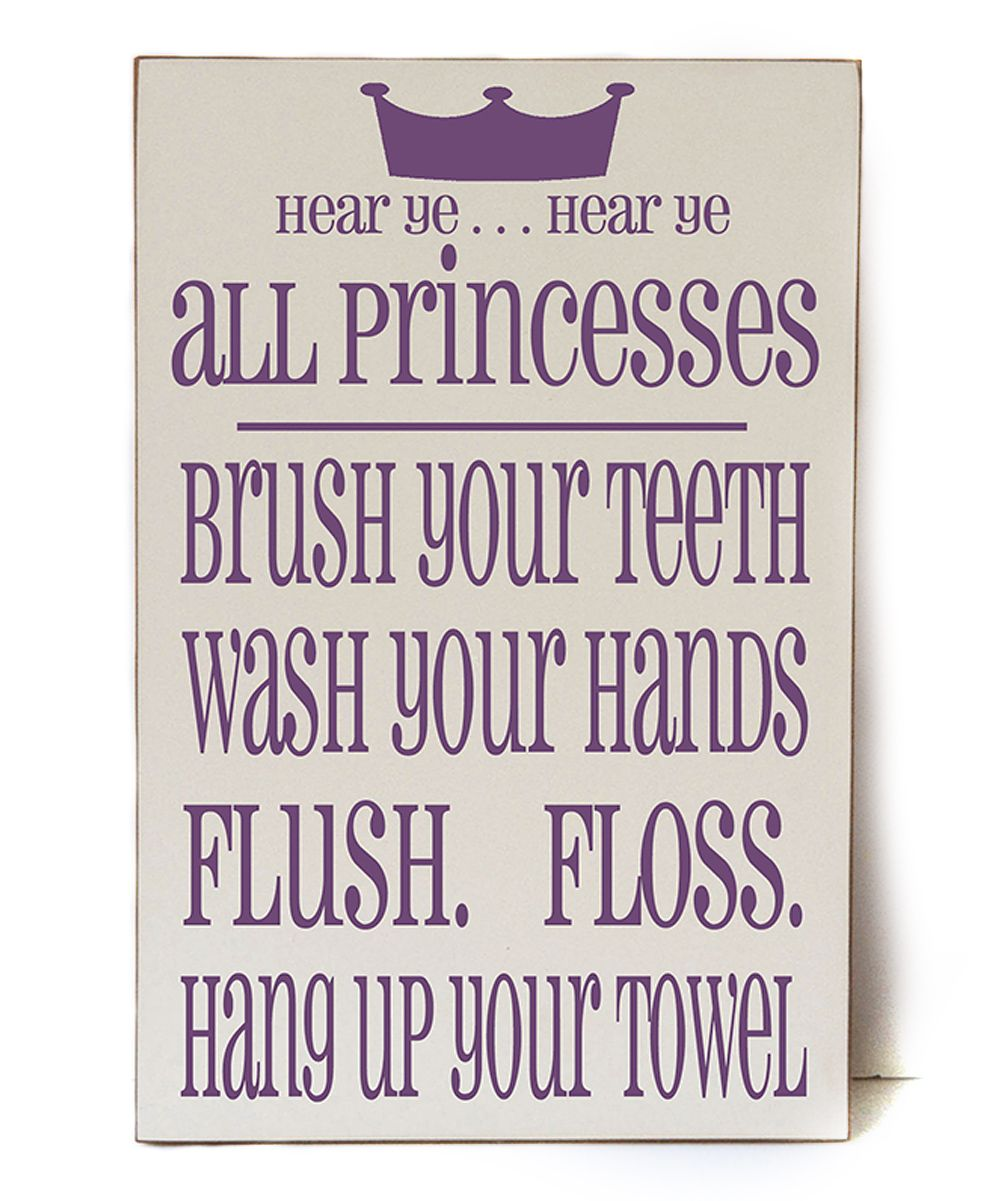 Princess Bathroom Wall Art - perfect for a little girl's bathroom.