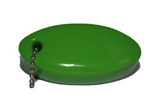 Lime Green Vinyl Coated Foam Floating Key Chain By Fun
