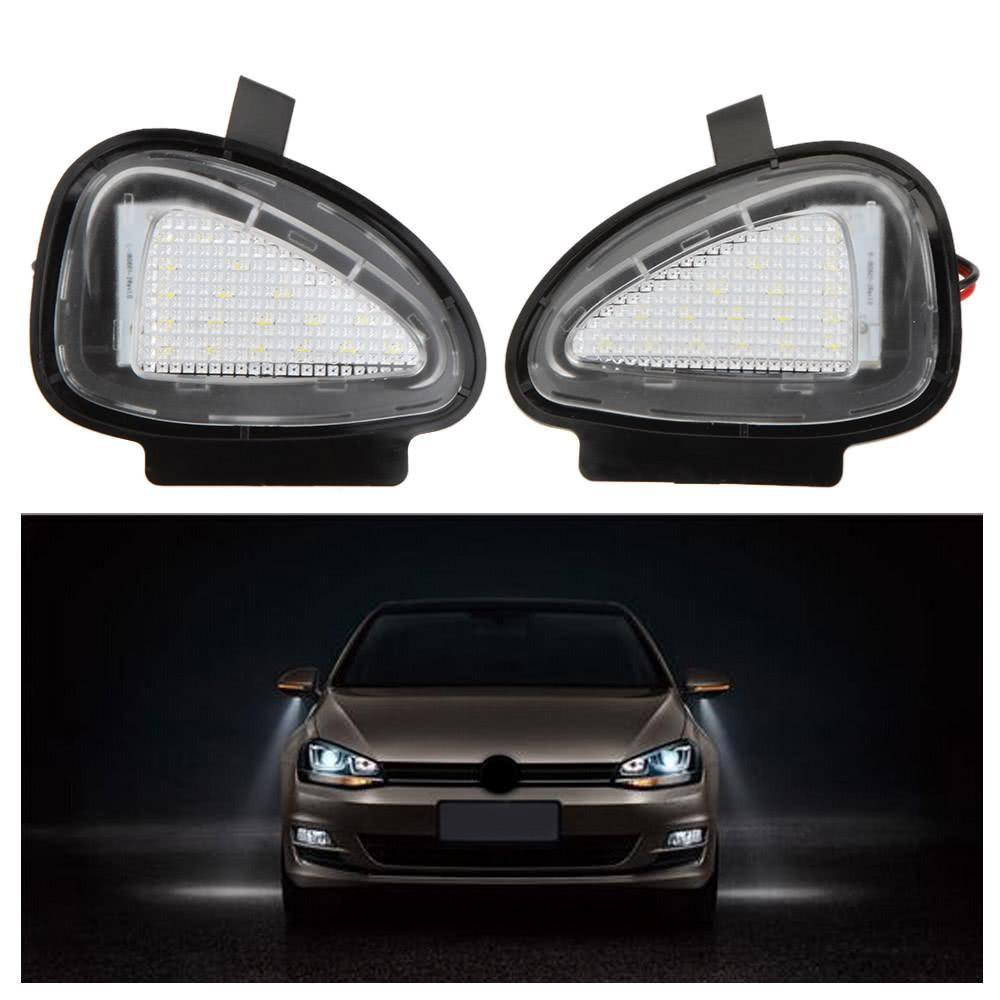 Pair Led Under Side Mirror Lamps For Vw Golf 6 Cabriolet Passat B7 Touran Avec Images Cabriolet Golf 6 Golf