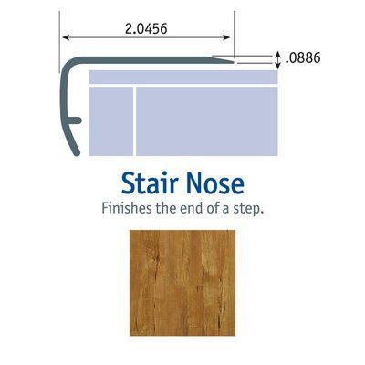 Best Tarkett 1 13 X 2 13 X 94 Stair Nose In Golden Rose 400 x 300