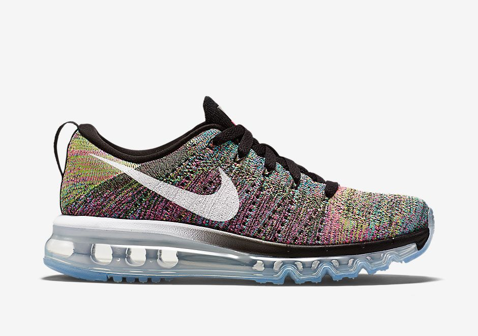 """0b7a641374ab Nike WMNS Flyknit Air Max """"Multi-Color"""" Color  Black Pink Pow Chlorine  Blue-White Style Code  620659-004 Price   225"""
