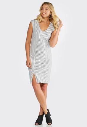 59415c08faf Cato Fashions VNeck Stripe Midi Dress  CatoFashions