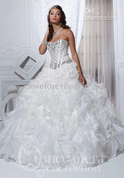 Modern Sparkling Sweetheart Corset Organza Beads Crystals Flower ...