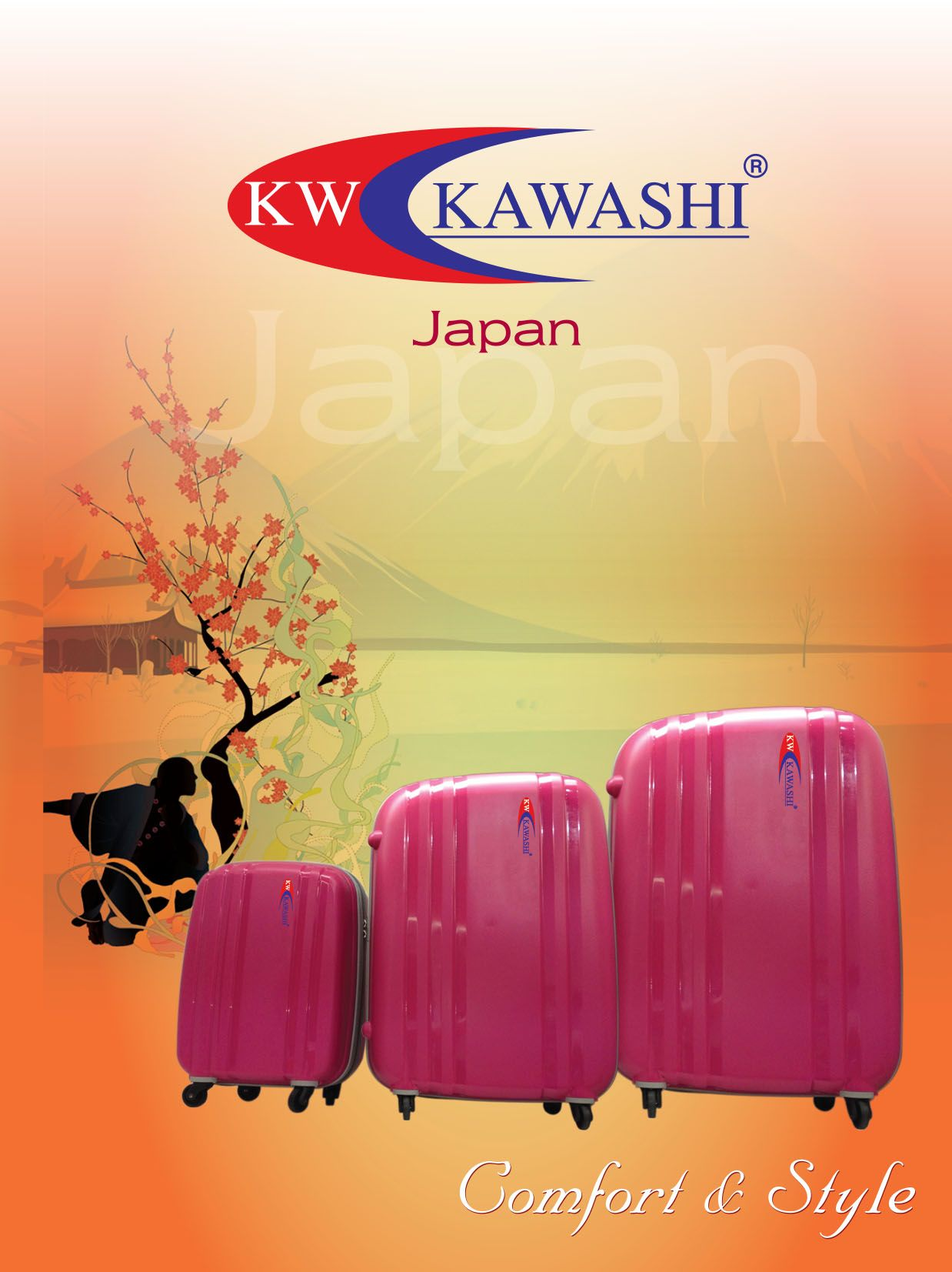 KAWASHI offers a wide range of durable and splashy luggage bags available in all standard sizes  Buzz us for Bulk orders on +971 55 600 3950 / +971 55 805 2123 or write to us at: social@fakhruddin.ae