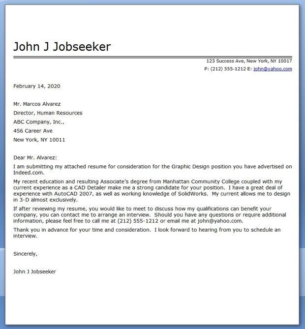 Graphic Design Cover Letter Sample Pdf Cover Letter For