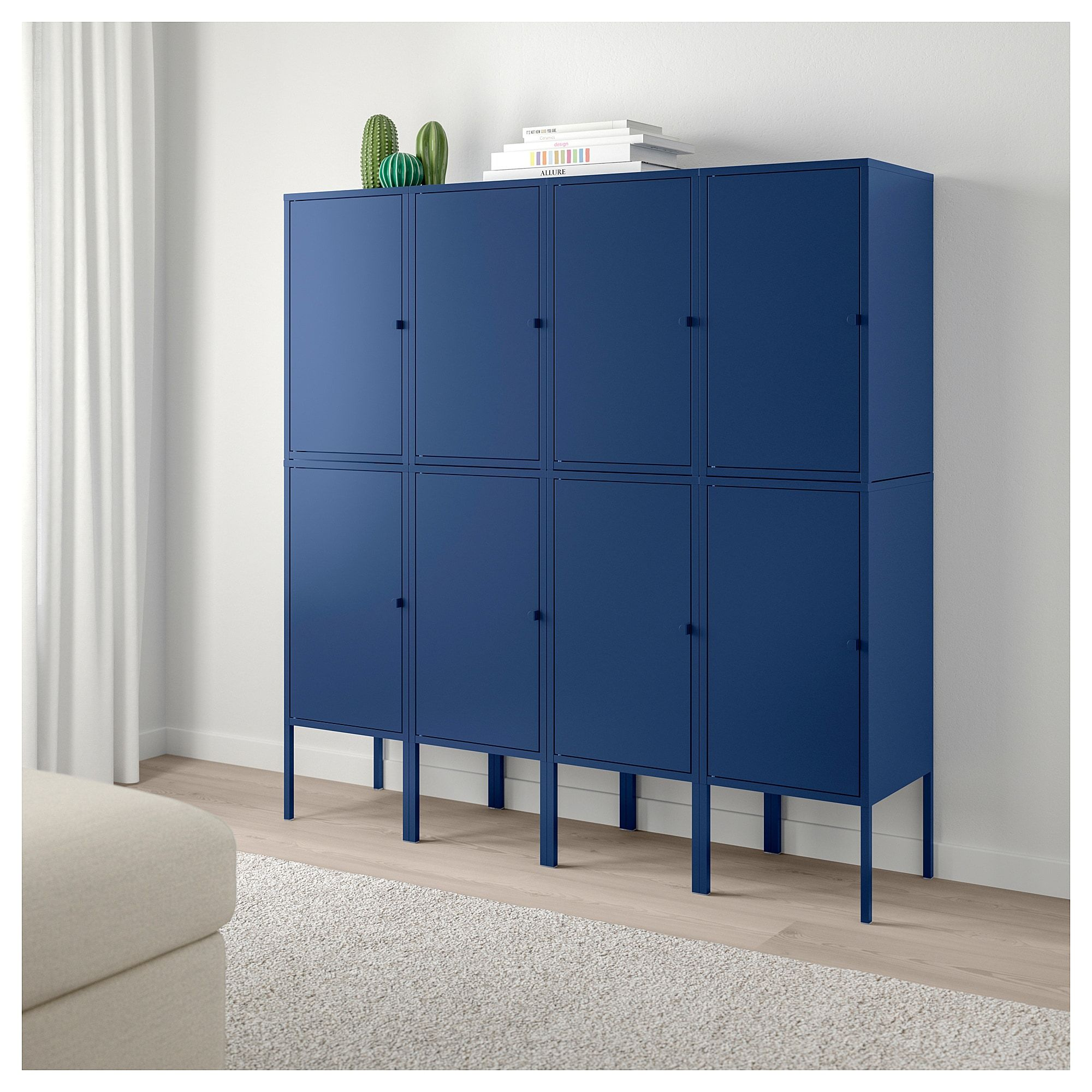 Ikea Storage Cabinets Lixhult Storage Combination Dark Blue Architectural Elements