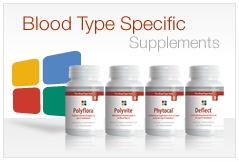 type a blood diet supplements