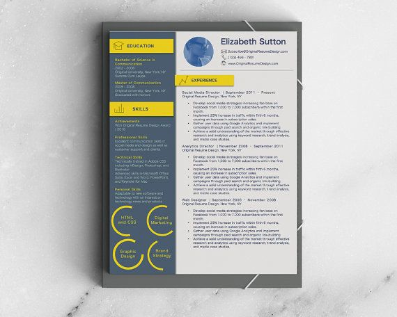 UI Resume and Cover Letter Word Template with Resume Icons Bonus - bonus letter template