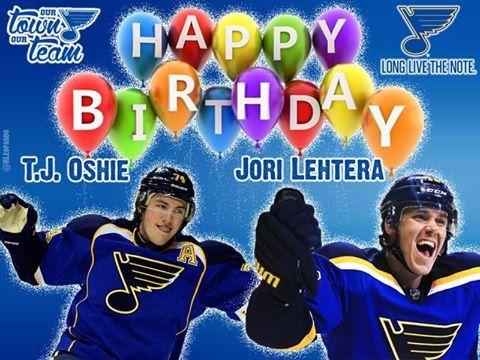 Happy Happy Birthday 12 23 14 St Louis Blues Hockey St Louis Blues Go Blue