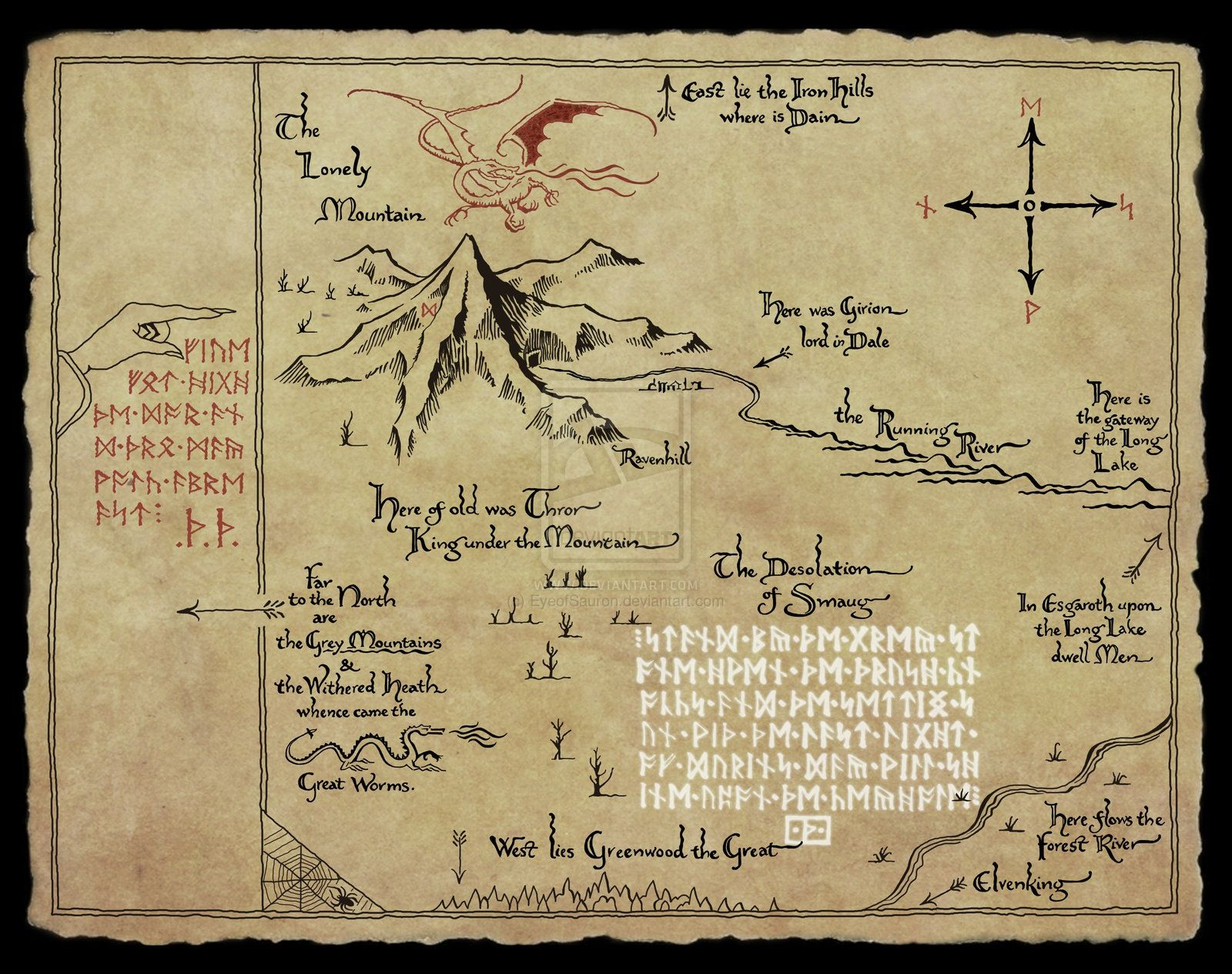 Thorin S Map I Can Read Elvish It Says Go North Until You