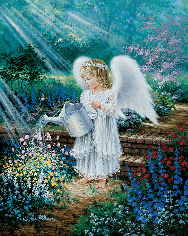 Гиф ангелочки на счастье