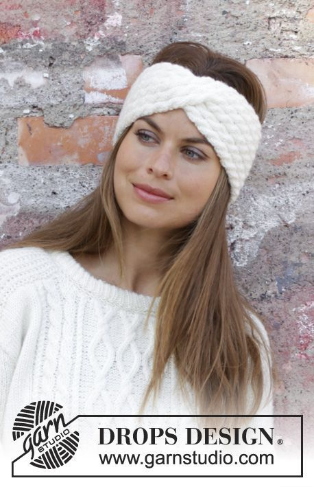 Photo of Waiting for snow headband / DROPS 195-2 – free knitting patterns by DROPS design