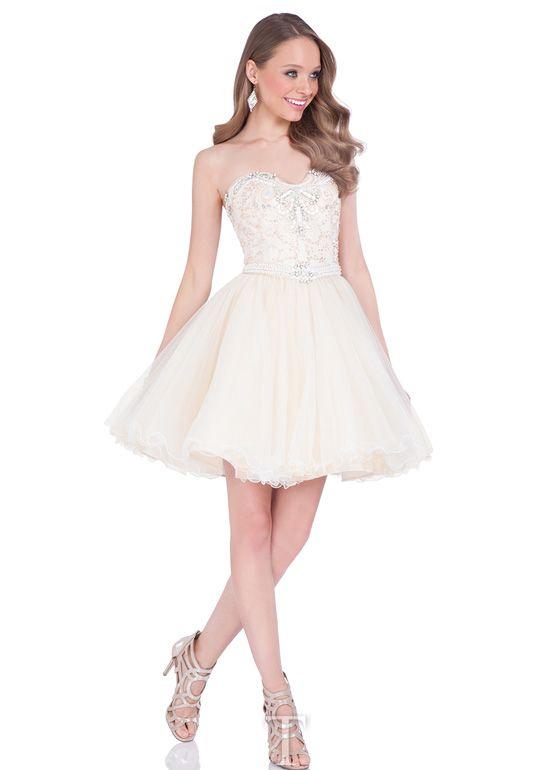Cocktail dress ivory prom