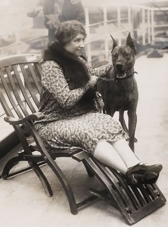 Helen Keller With Her Great Dane Photographic Print Dogs Great
