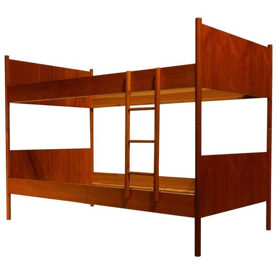 Westnofa Teak Twin Bunk Bed Norway Mid Century Modern
