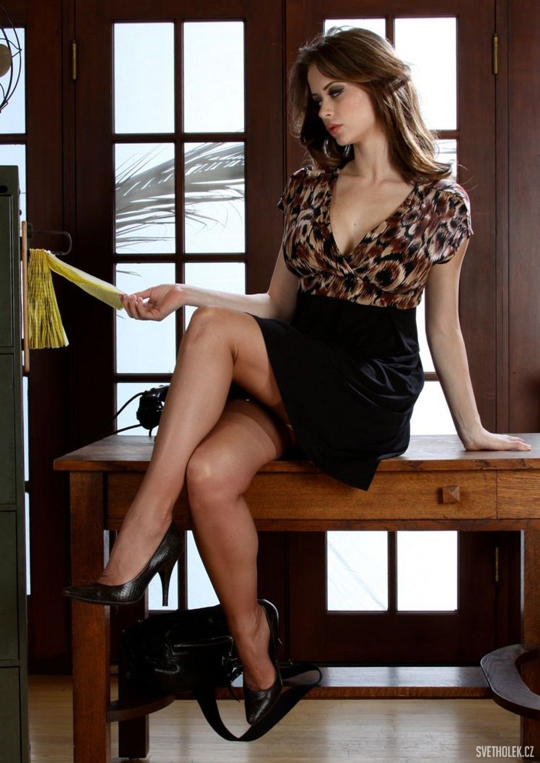 Emily Addison Office Stocking Nylon Legs 32 Hot Girls