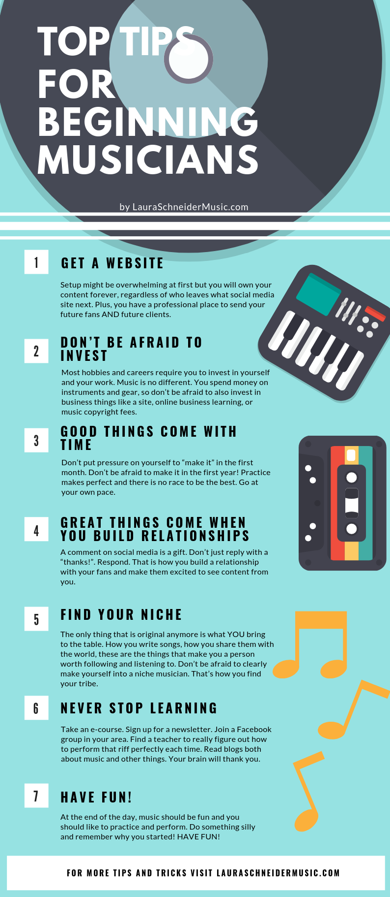Top Tips For Beginning Musicians Writing Songs Inspiration Music Motivation Music Writing