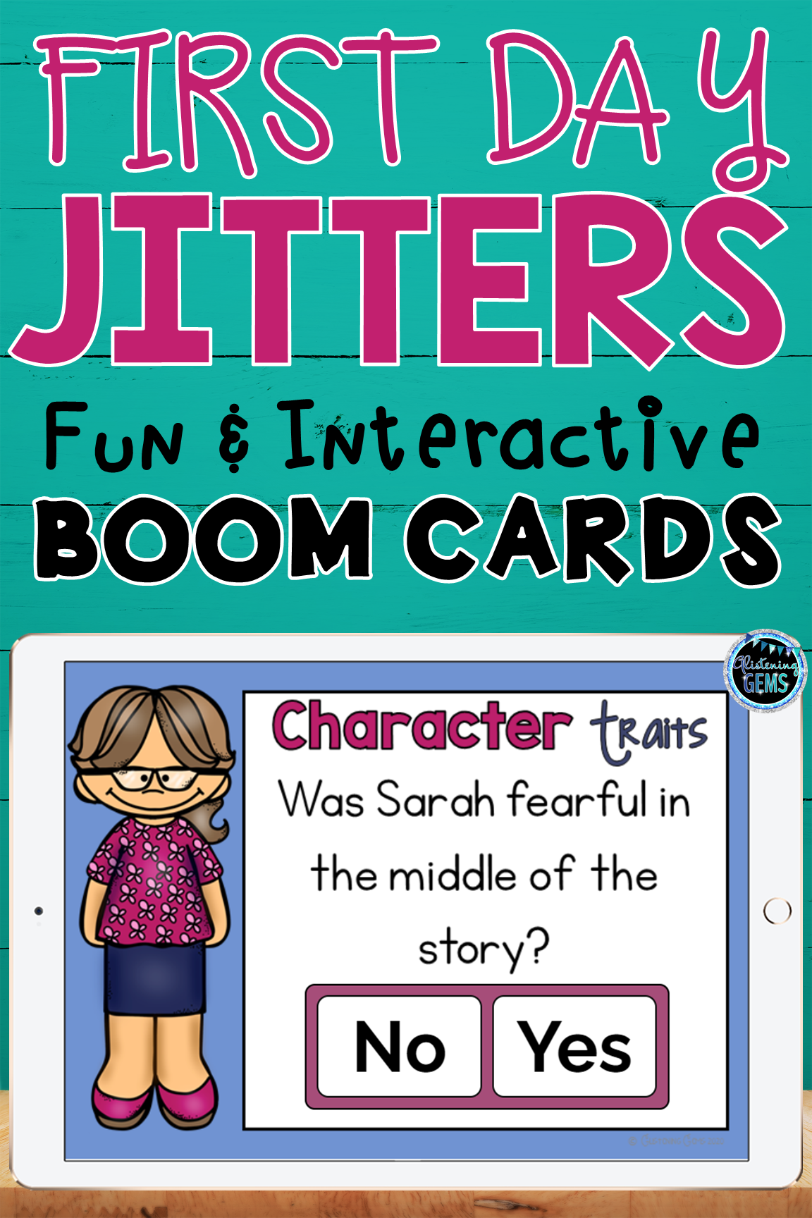 First Day Jitters Digital Boom Cards In