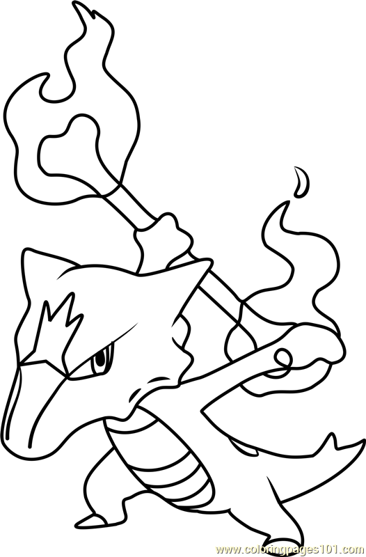 Alola Marowak Pokemon Sun And Moon Coloring Page Moon Coloring Pages Pokemon Coloring Pokemon Coloring Pages