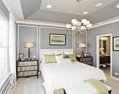 Angled Tray Ceiling Painting Google Search Tray Ceiling Bedroom Vaulted Ceiling Bedroom Simple Bedroom
