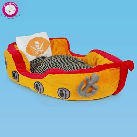 Luxury Dog Bed Cat Bed Removable Washable Cover Plush Blanket Nautical Anchors