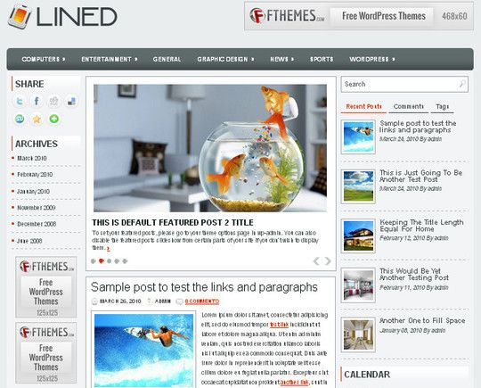 40 Beautiful 3 Column WordPress Themes For Free Download | Pinterest ...
