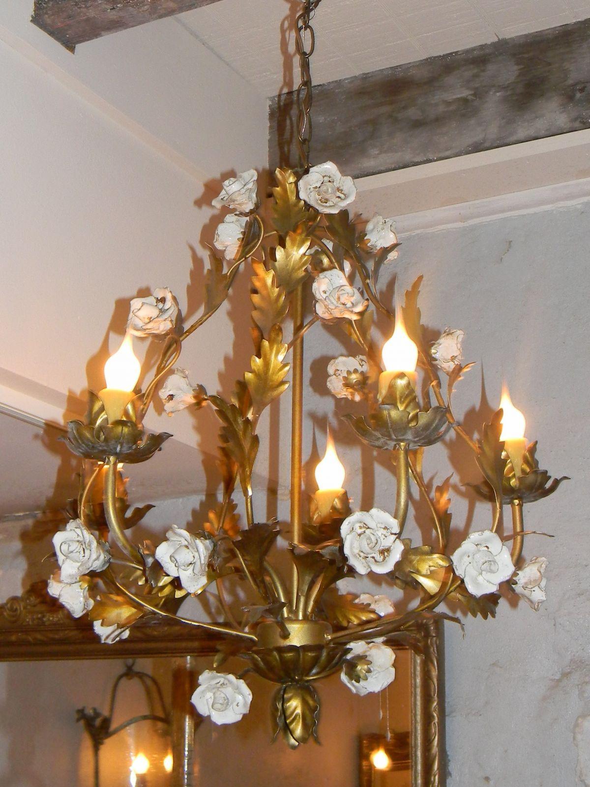 roses chandeleir Porcelain Rose Chandelier