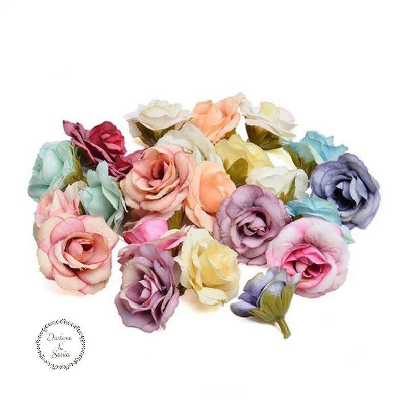 1-20pcs 6 Heads Artificial Silk Rose Flowers Bouquet Wedding Party Home Garden D