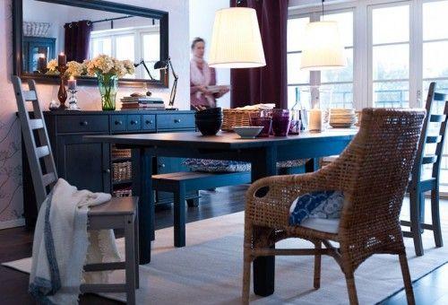 2011 ikea wood dining room